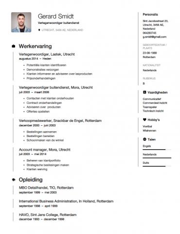 voorbeeld sollicitatiebrief vertegenwoordiger Vertegenwoordiger CV Voorbeeld   Gratis Downloaden voorbeeld sollicitatiebrief vertegenwoordiger