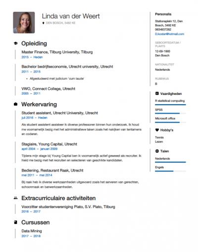 cv maken stage Studenten CV Voorbeeld 2018 met Tips   Download in Word & PDF
