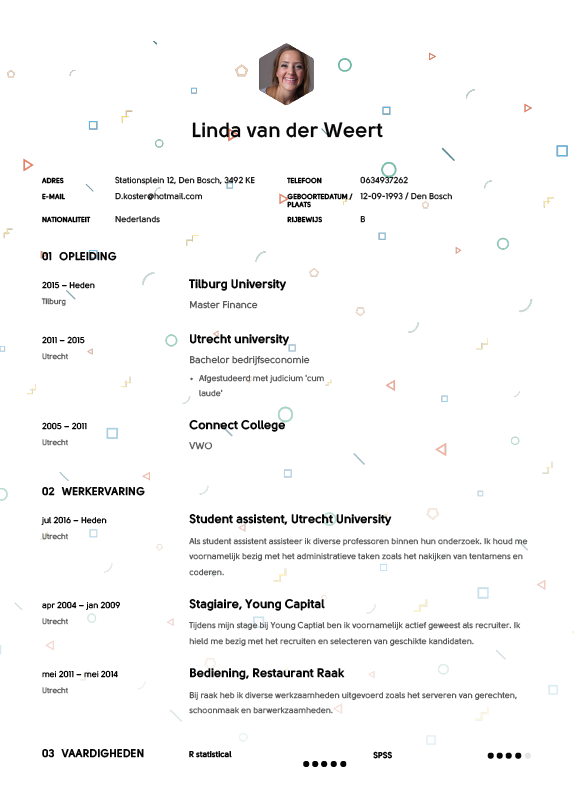 tips cv maken Studenten CV Voorbeeld 2018 met Tips   Download in Word & PDF